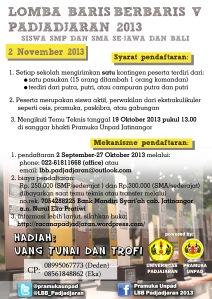 Poster LBB V Padjadjaran 2013